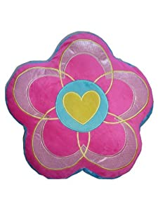Plush Flower Pillow - Pink