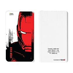 Livtel x Hamee Marvel Licensed Avengers 5000 mAh PowerBank with LED indicators and Reversible Micro-USB cable (Iron Man / Face)