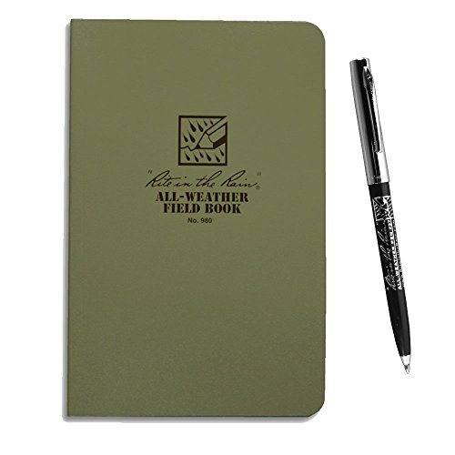 Rite in the Rain 980 All-Weather Green Field-Flex Book with All-Weather Pen (Right In The Rain Notebook compare prices)