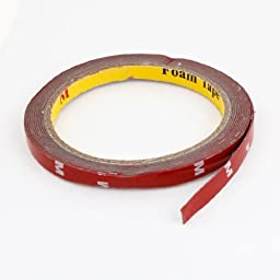 Water & Wood 8mm x 3meter Car Vehicle Foam Double Side Self Adhesive Tape Roll with Car Cleaning Cloth