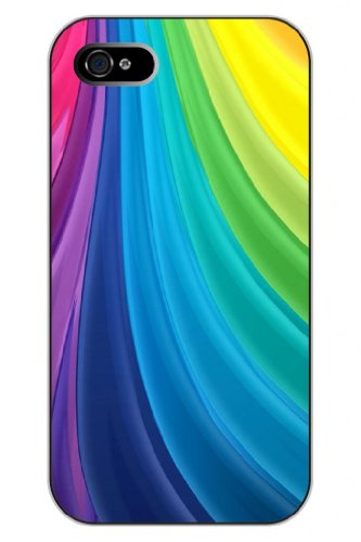Sprawl New Fashion Design Hard Skin Case Cover Shell For Mobile Phone Apple Iphone 4 4S 4G--Rainbow Color Flow