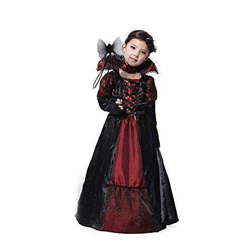ハロウィン グッズ 子供服 吸血鬼 仮装  キッズ用 コスチューム Halloween コスプレ衣装 Ruleronline (XL)