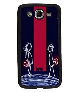 Fuson Night Love Couple Back Case Cover for SAMSUNG GALAXY MEGA 5.8 - D4008