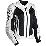 Scorpion Womens Nip Tuck Jacket - Large/Black/Off White