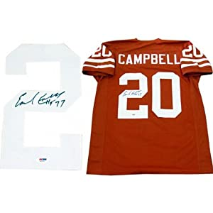 Autographed Earl Campbell Jersey - HT 77 PSA DNA) - Autographed College Jerseys by Sports Memorabilia