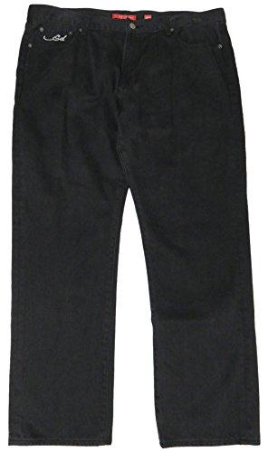 Ed Hardy Men's Black Denim Jeans, , 40/32, Button Closure