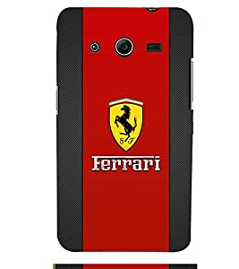 TOUCHNER (TN) Red Horse Back Case Cover for Samsung Galaxy Core 2 G355H