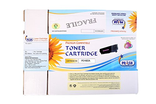 PRASH B/W Cartridge Toner compatible for HP 80A Toner Cartridge for Use in LaserJet Pro 400, M401, M401d, HP M401dn, M425dn  available at amazon for Rs.675