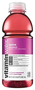 Glaceau Vitamin Water, Revive Fruit Punch, 20-Ounce Bottles (Pack of 24)