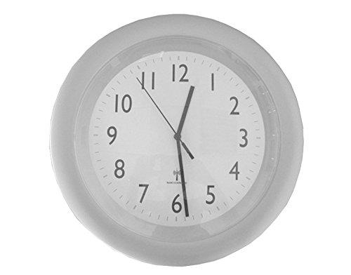 Brema 103056 Wandfunkuhr, Kunststoff, Quarz Uhrwerk, silber