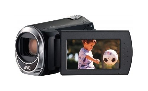 JVC GZ-MS110BEU Camcorder (SD Kartenslots, 39-fach optischer Zoom, 6,9 cm (2,7 Zoll) Display) schwarz