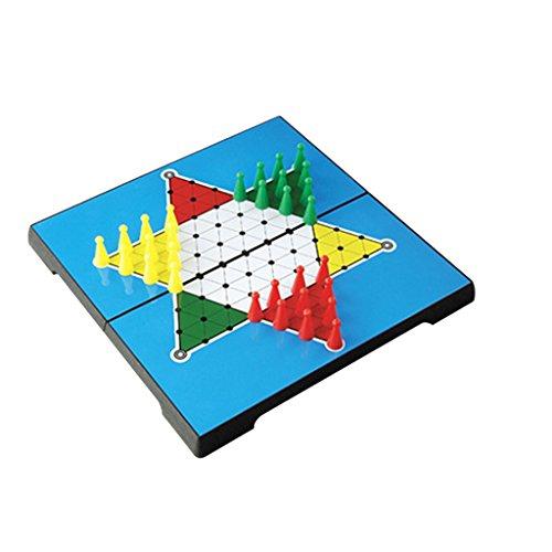 Echec Hexagone Chinois 30pcs Chevilles Magnétiques avec Plateau Pliable Plastique