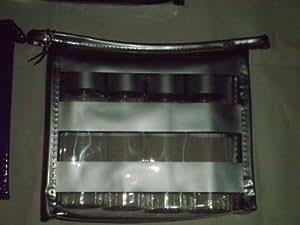 Premium 3 oz. Plastic Travel Bottle Set (4/pkg) Zippered Case, Silver