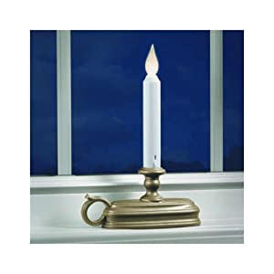 Battery Operated LED Window Candle with Sensor (Pewter) FPC1525P