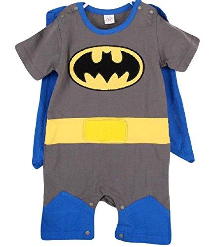 So Sydney Superhero Onesie Romper for Infant, Baby, Toddler, Boy or Girl (80 (6-12 Months), Batman - Blue & (Batman Costume Sydney)