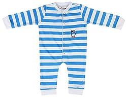 Lil Penguin Baby Boys' Cotton Romper (LP03B2, White, 0-3 Months)
