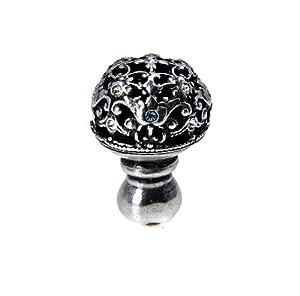 Carpe Diem Hardware 139-9CAQ Juliane Grace Chalice Medium Knob full Round Knob Made with Swarovski Crystals Chalice