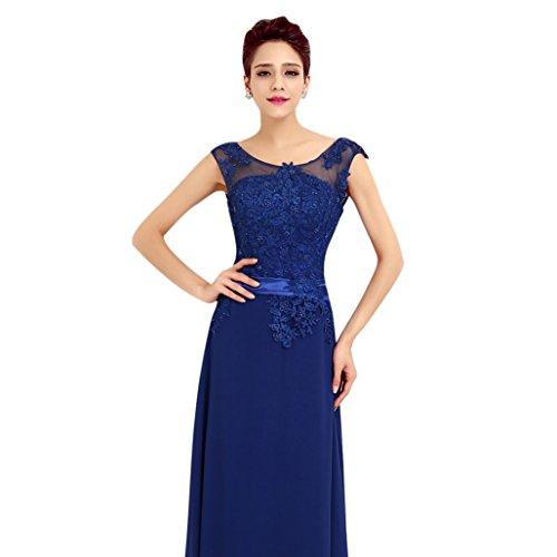 Missfox Maxi Vestido Con Bordado Para Mujer Sin Mangas L Oscuro Azul