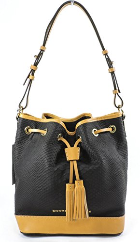 Dooney & Bourke Claremont Python Drawstring,Black