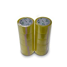 CALLANY® 5 Rolls BOPP Adhesive Packing Tape for Carton Sealing (2.17 Inches x 134Yards)
