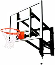 Goalsetter GS54 Wall Mounted Adjustable Basketball System with 54-Inch Glass Backboard and Flex Rim