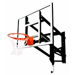 Goalsetter GS54 Wall Mounted Adjustable Basketball System with 54-Inch Glass... by Goalsetter