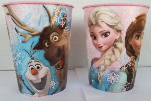 Disney's Frozen 16 oz Plastic Cup 2 pack by Hallmark - 1
