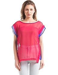 Prym Women's Body Blouse Shirt (1011516802_Fuschia _X-Large)
