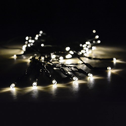 solar christmas lights with long lasting leds by earth sky works solar powered patio string lights safe for outdoor use 37ft 100 tiny leds