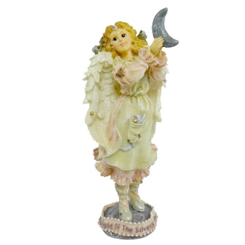 Boyds Bears Resin Luna The Light Of The Silvery Moon Angel Folkstone - Resin 7.25 IN