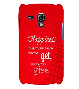 Fuson 3D Printed Quotes Designer back case cover for Samsung Galaxy S3 Mini - D4541