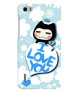 Fuson 3D Printed Love Designer back case cover for Huawei Honor 6 - D4593