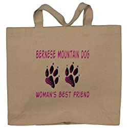 BERNESE MOUNTAIN DOG WOMAN'S BEST FRIEND Totebag (Cotton Tote / Bag)