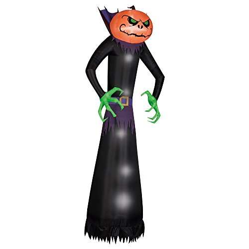 Halloween Inflatable 12' Pumpkinhead Reaper W/ Green Hands front-93360
