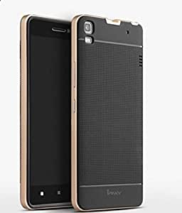 iPaky Hybrid Ultra Thin Shockproof Back + Bumper Case Cover for Lenovo A7000 / K3 Note - Gold