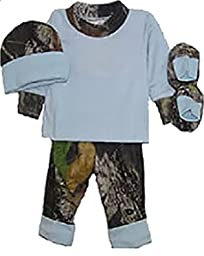 Bonnies Boys Baby Mossy Oak/Blue Gift Set Newborn
