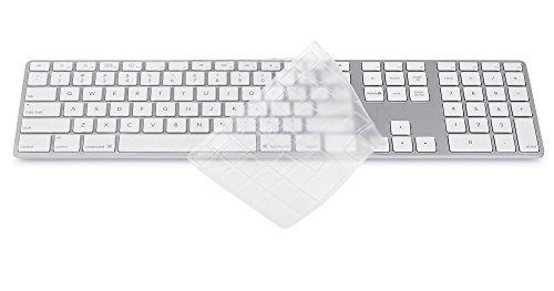 Folox® High Quality Waterproof TPU Clear Keyboard Cover Skin Protector for Apple imac G6 Desktop PC Wired Keyboard (US Version) (Computer Key Board Cover compare prices)