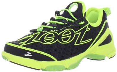 Zoot Women's Ultra TT 6.0 Running Shoe,Black/Safety Yellow/Green Flashh,6 M US