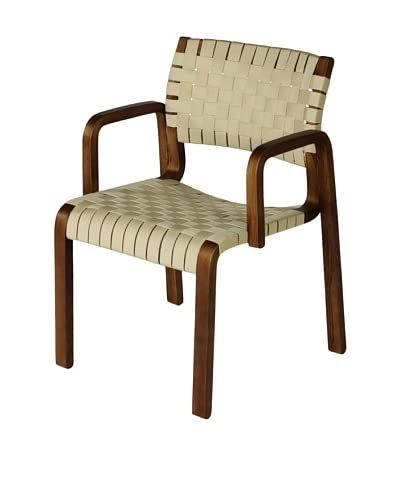 Control Brand Orebro Arm Chair, Walnut/White