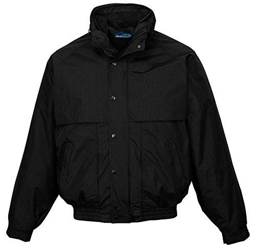 Tri-Mountain Nylon 3-In-1 Jacket. 7800 - Black / Black_6Xlt front-928092
