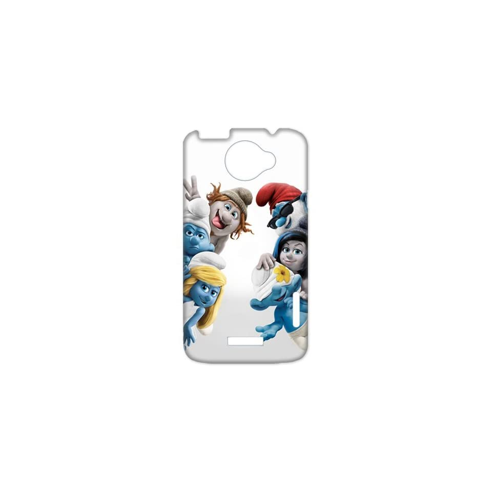 Back in the 27 years ago The Smurfs Unique HTC One X + Durabel Hard Plastic Case for you Custom Perfect Design