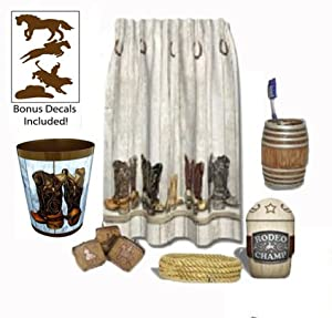 Amazon.com - Saddle Up Western / Cowboy / Rodeo Bathroom Décor