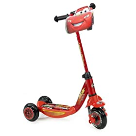 Disney Cars' Lighting McQueen Light Up Juvenile 3-Wheel Scooter