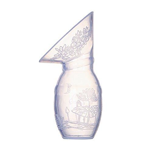 ACRATO-Brustpumpe-Handmilchpumpen-Milchflasche-Manuelle-Milchpumpe-Flasche-Komfort-aus-BPA-Frei-Lebensmittelqualitt-Silikon-100ml