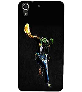 PrintDhaba Dancing Boy D-2212 Back Case Cover for HTC DESIRE 728 (Multi-Coloured)