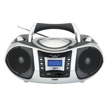 Naxa NPB-250 Portable MP3/CD Player with Text Display, AM/FM Stereo Radio, US...