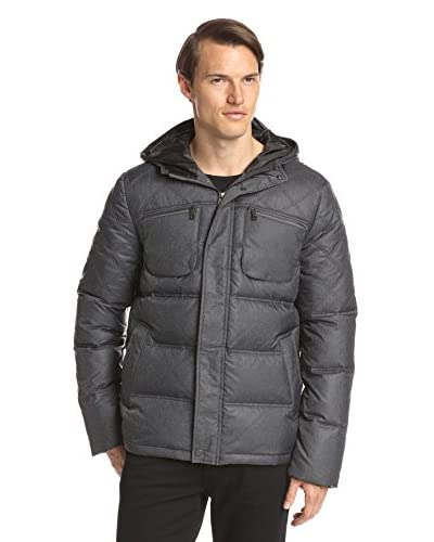 7 for All Mankind Men's Herringbone Print Puffer Jacket