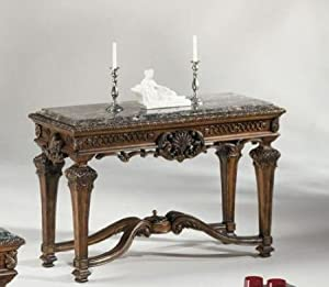 Old World Dark Brown Casa Mollino Sofa Console Table