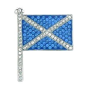 Butler and WilsonSmall Crystal Scottish Flag Brooch