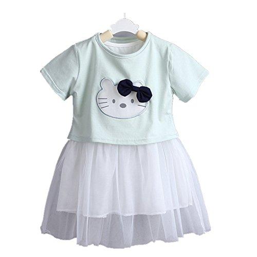ftsucq-baby-little-girls-cartoon-dress-two-pieces-with-shirtgreen-90